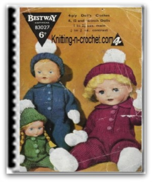 Knit Baby Doll Patterns by Amy Gaines   Knitting Pattern