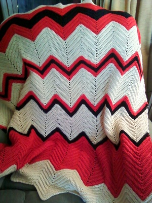 ... - Easy Crochet Ripple Afghan With Step By Step Crochet Instructions