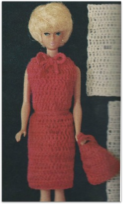 vintage knitting pattern for doll