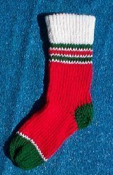 Christmas Stocking Loom Knitting Pattern : TWO NEEDLE CHRISTMAS STOCKING KNITTING PATTERN   KNITTING ...