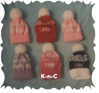 Knitting machine pattern ski caps