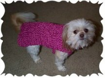 Houndstooth Dog Sweater Knitting Pattern - FREE Knitting Pattern