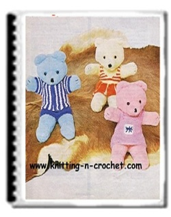 Adorable Teddy Bear Clothes Patterns For Basic Knitting Great Gift