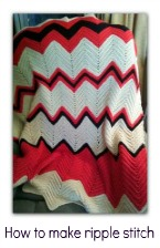 how to crochet ripple afghan