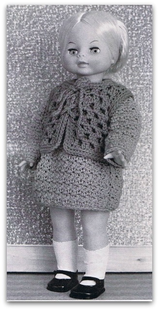Crochet doll clothes patterns for sizes from 12 inch to 20 inches