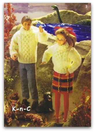 Doll cable knit sweaters