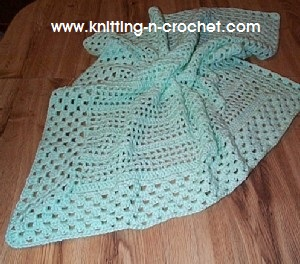 beginner crochet baby blanket
