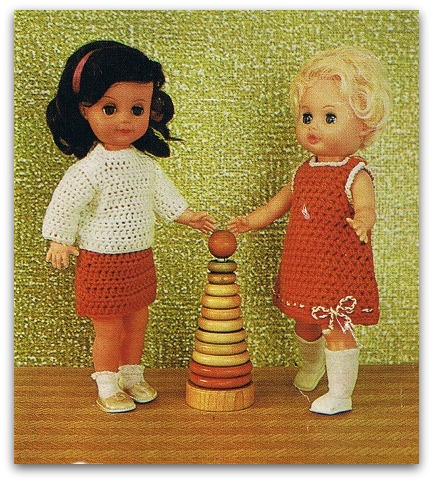 Vintage Crochet Doll Dress Patterns - Cheap Frills Jewellery | 482x433