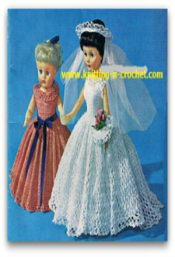 Free crochet wedding dress pattern for the fashion doll free wedding gown crochet doll patterns junglespirit Images