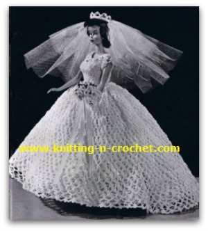 Free crochet wedding dress pattern for the fashion doll free crochet wedding dress pattern junglespirit Images