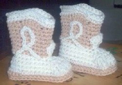 Free crochet patterns: Crocheted Slipper Boots