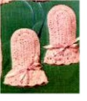 Knitting Galore: Easy Knit Baby Mittens - Dianne Jones