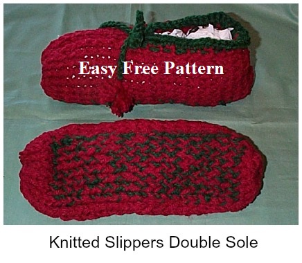 Free Slipper Knitting Patterns Knitted On A Loom