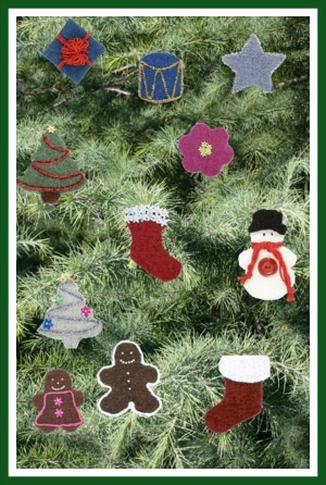 felted christmas crochet patterns
