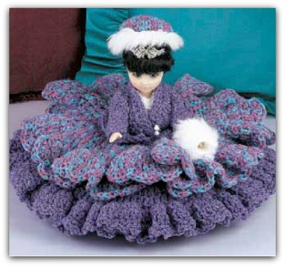 Crocheted Baby Doll Bed Set - Fairfield World Craft Projects ... | 375x400