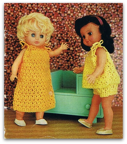 Night clothes baby dolls to crochet