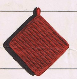 3 Free crochet potholder pattern and a free placemate pattern