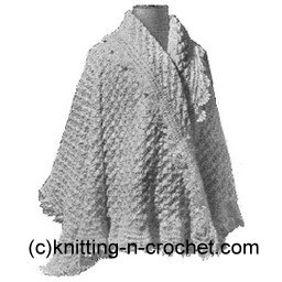 Boxed Shell Cape Free Crochet Pattern