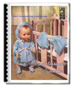 Knitted doll clothes patterns for 18 - 20