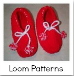 Knitting loom slippers