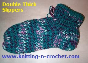 double thick loom slippers