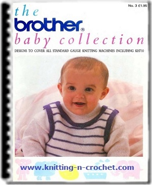 Free Knitting Patterns For Hooded Scarves : Beautiful machine knitting baby patterns by Brother