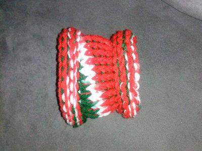 Christmas small knit dog cowl