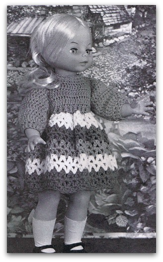 Doll dress crochet pattern