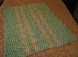 Baby Crochet ripple afghan stitches