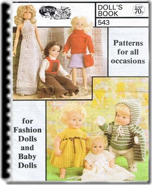 Baby doll clothes to fashion doll. Lots of patterns