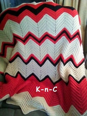 Easy Crochet Ripple Afghan Instructions