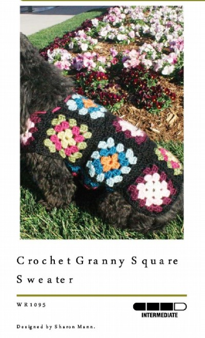Free Crochet Granny Square Dog Sweater : Free basic granny square pattern