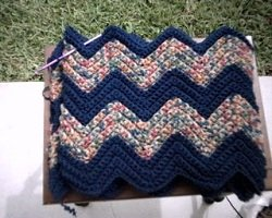 Crochet ripple afghan stitches as you go
